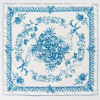 Wintery Mix | 90 x 90cm | Silk Scarf