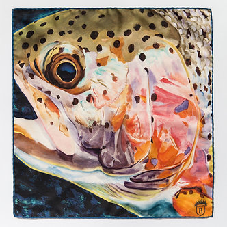 Madison River Rainbow | 45 x 45cm | Silk Scarf