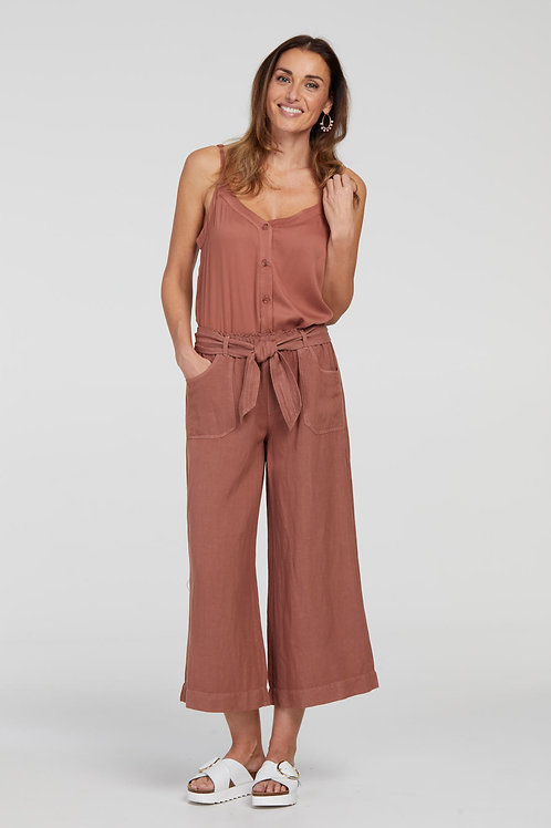Tribal Wide Cropped Pant