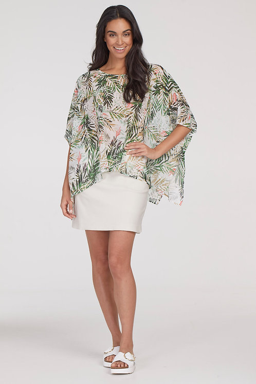 Tribal Tropical Kaftan Blouse