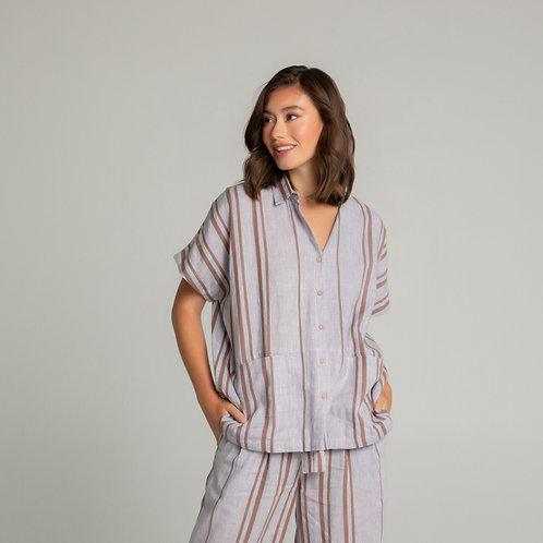 Gabby Lilac Striped Shirt