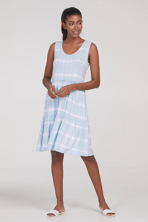 Tribal Sleeveless Flounce Dress