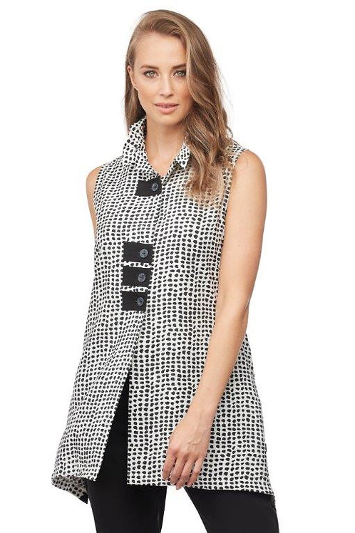 Carre Noir Sleeveless Blouse