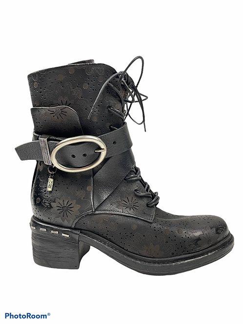 AS98 EMBOSSED NERO BOOT