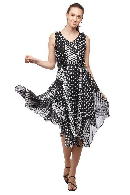 Carre Noir Polka Dot Dress