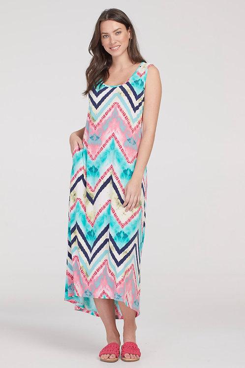 Tribal Chevron Maxi Dress