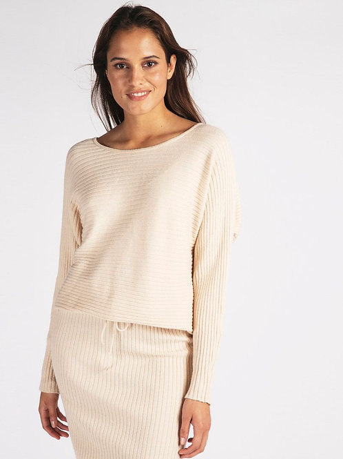 BATWING RIBBED SWEATER