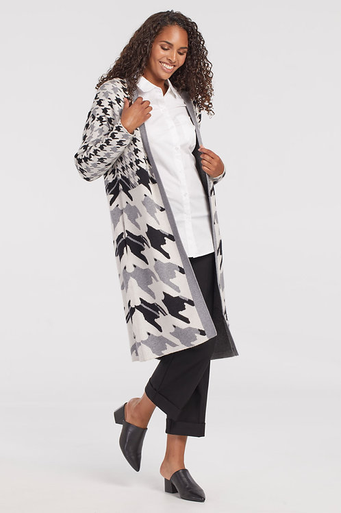 Tribal Houndstooth Cardigan