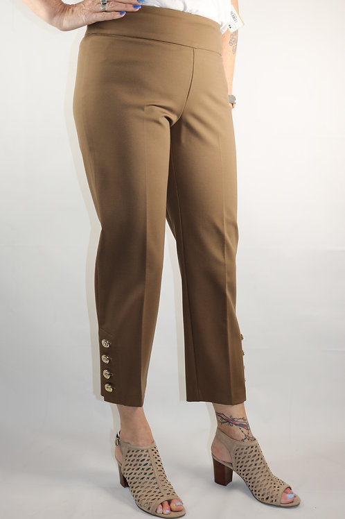 Up! Camel Button Cropped Pant