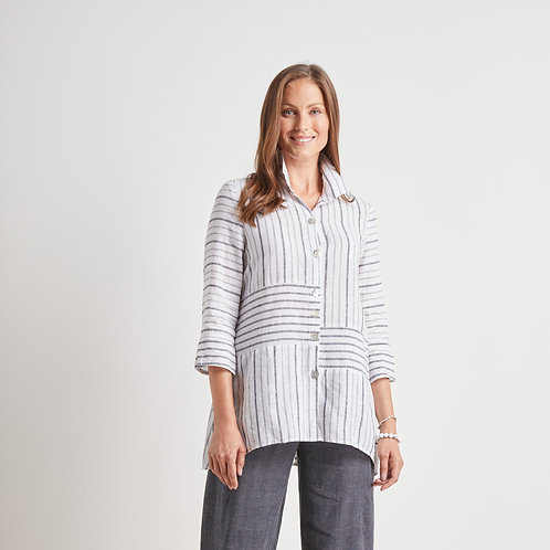 Habitat Linen Striped Blouse