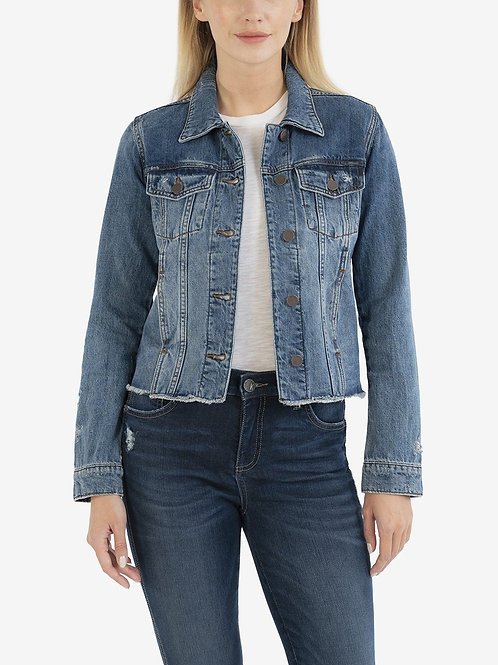 Kut Julia Crop Jean Jacket