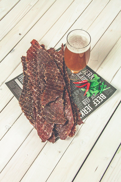Hot Peppered Beef Jerky