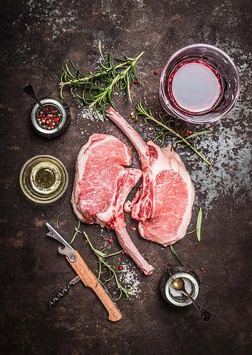 Pork Chops, 10oz French Cut (2)