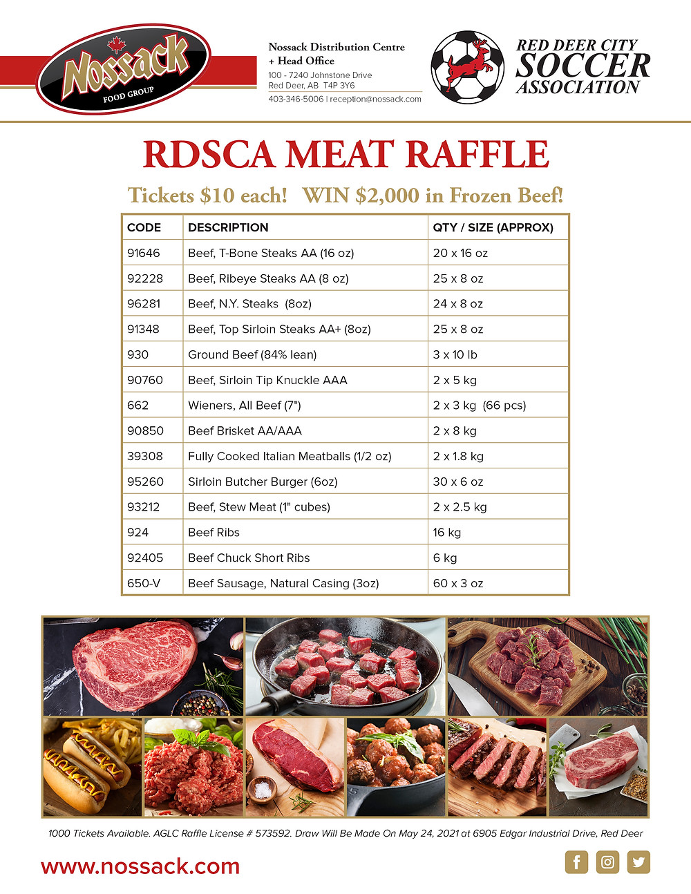 RDSCA Meat Raffle Details