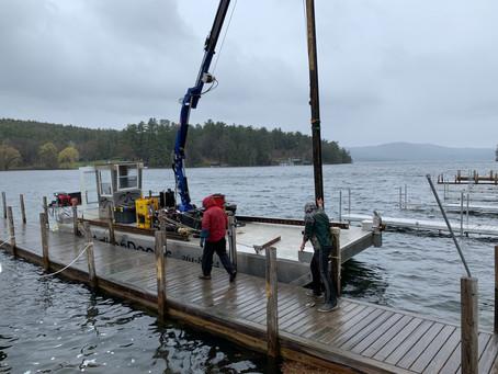 Dock Construction Has Begun!
