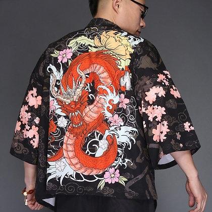 Yukata Haori Japanese Kimono Cardigan Men Samurai Kimono Jacket Kimono Shirt