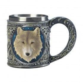 Wolf - Silver Mug