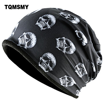 TQMSMY Skull Hats Men Skullies beanies Women Ski Caps Hip Hop Punk Cool Bone