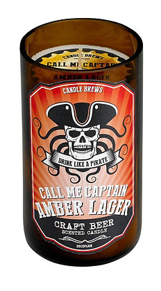 Amber Lager Beer Bones Scented Candle