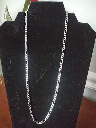 14 Karat Beveled Figaro Gold Chain