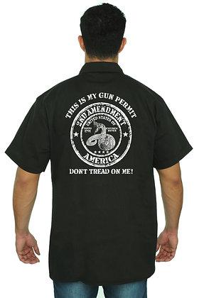 Men's Mechanic Work Shirt Don't Tread on Me 2nd Amendment