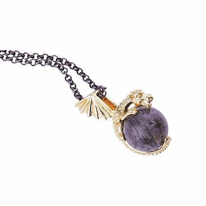 Labradorite Dragon Necklace