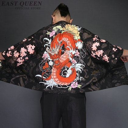 Japanese Kimono Cardigan Men Clothing Kimono Shirt Men Male Yukata   KK2229 Y