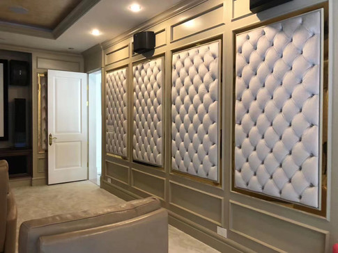 Home Theater Wall Upholstery