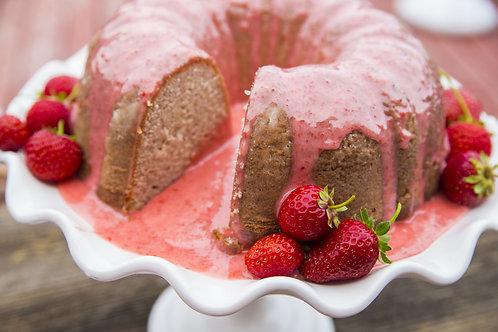 Strawberry White Chocolate Mini Bundt Cake