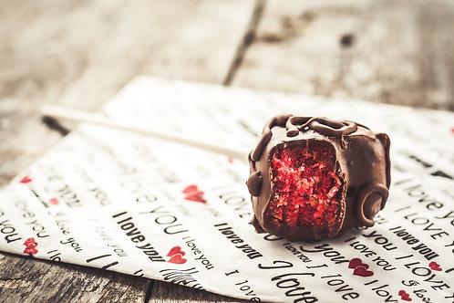 Red Velvet Sprinkles Cake Pops