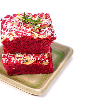Red Velvet Swirl Pound Cake Loaf