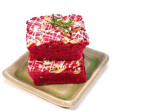 Red Velvet Brownie Squares