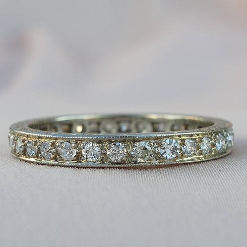 Art Deco 1ct Diamond Wedding Band