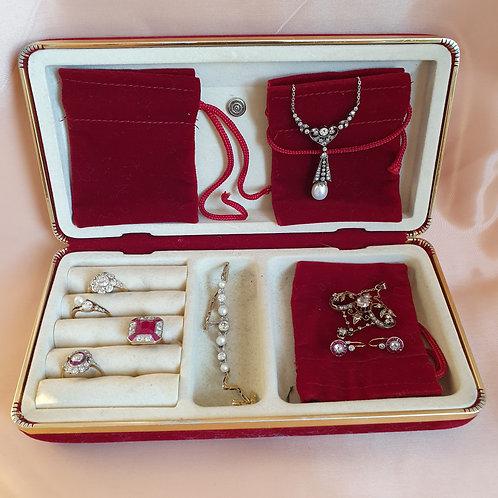 Vintage Jewellery Travel Case