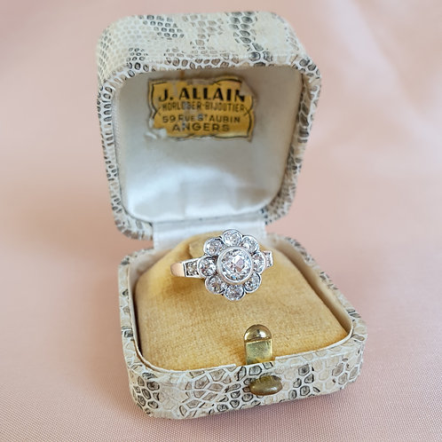 Mid XXc Cream Ring Box