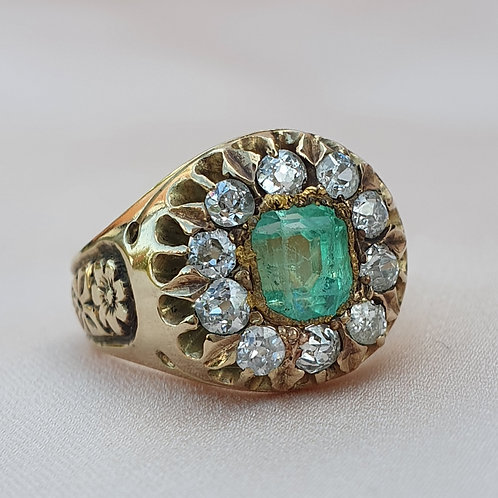 Austro-Hungarian Emerald and Diamond Ring