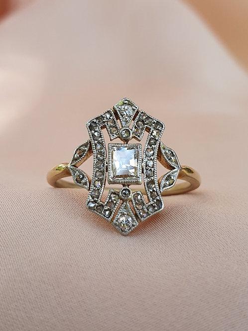 Art Deco Rectangular Diamond Ring