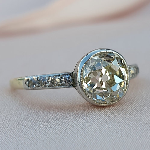 1.26 Old Cut Diamond Engagement Ring