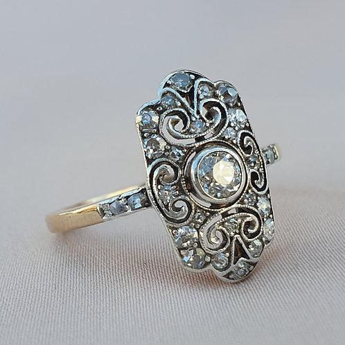Art Deco Vienna 0.55 Diamond Ring