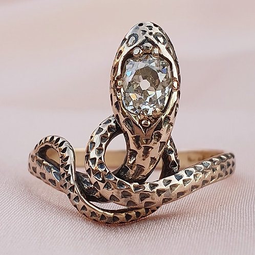 Victorian 0.74 Diamond Serpent Ring