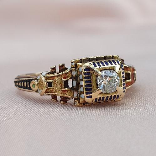 1800s Renaissance Revival Diamond Engagement Ring