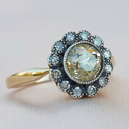 Champagne Over 1ct Diamond Engagement Ring
