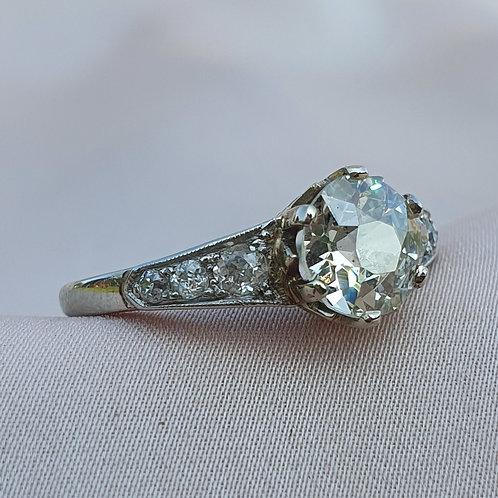 Art Deco 1.10 Diamond Engagement Ring