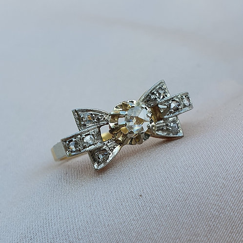 Art Deco Diamond Bow Ring