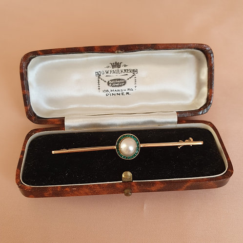 Vintage Mixed Brown & Cream Brooch Box