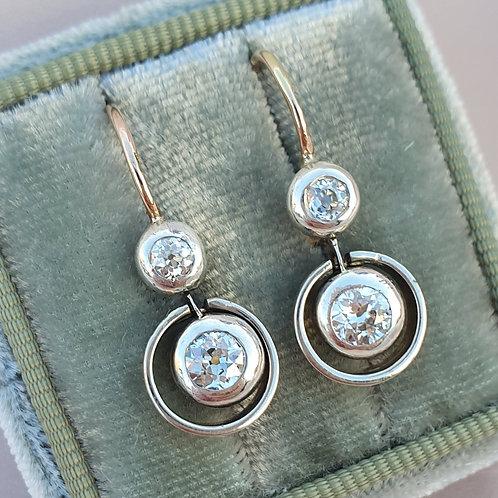 Art Nouveau 0.71 VVS Diamond Earrings