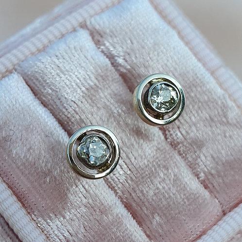 Art Deco 0.35 Diamond Stud Earrings