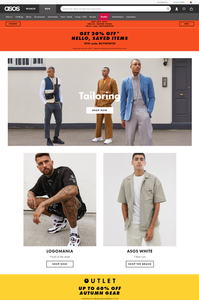 ASOS' personalized homepage