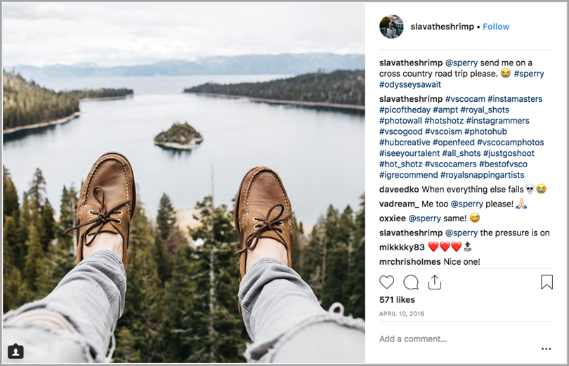 Sperry Influencer Collaboration on Instagram