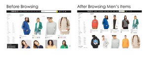 Forever21's personalized search results